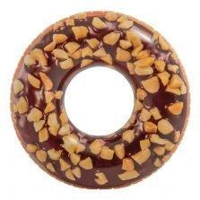 אבוב דונאט מודפס מתנפח שוקולד 56262 INTEX