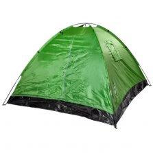 אוהל ל-4 אנשים CAMP&GO מבד ניילון נגד מים בעל פתח כניסה רחב ו-4 פתחי אוורור