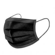 50 מסכות כירורגיות בצבע שחור מסכות שחורות
