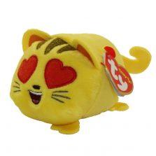 בובת TY טיני טיי חתול עיניים לב צהוב