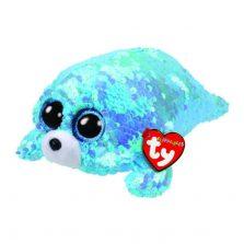בובת TY עיניים גדולות פאייטים ווייבס כלב הים