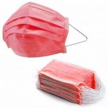50 מסכות כירורגיות בצבע אדום מסכות אדומות
