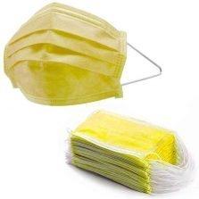50 מסכות כירורגיות בצבע צהוב מסכות צהובות